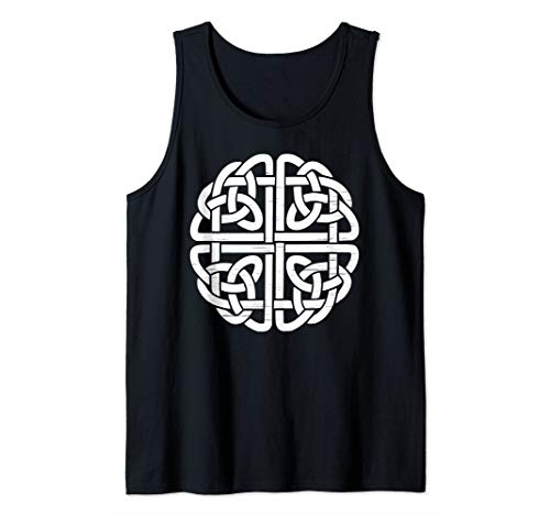 White Celtic Shield Knot Neopagan Wiccan Protection Symbol Tank Top