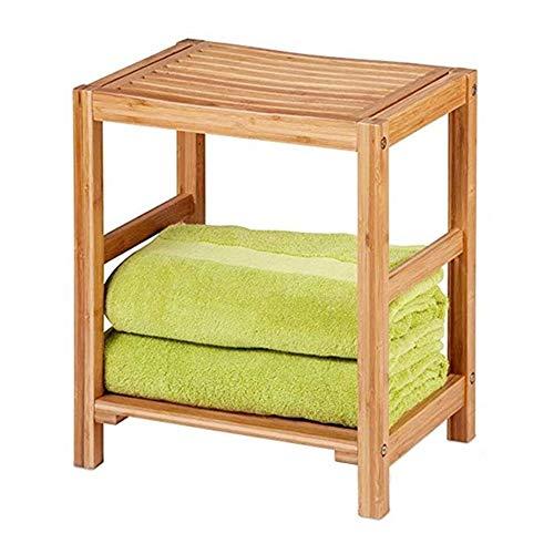 AY Bamboo Bench doccia e vasca da bagno di sede della sedia doccia angolare Sgabello in legno di acquazzone impermeabile Chair Vasca Idromassaggio Organizzatore Sedile sgabello con piedini in gomma fo