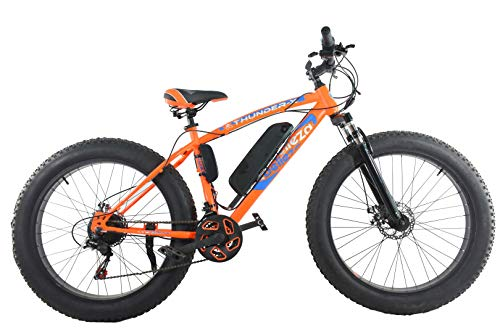 ORBIS CYCLES Thunder 26 Inches 21 Speed E-Bike for Adults - 18\ Frame