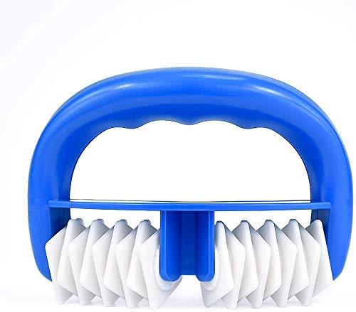 Locisne Gant de massage anticellulite, rouleau de massage pour le corps et le visage utilisable sec ou sous l'eau, avant ou après le sport … (bleu)