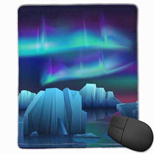 Mauspad Winterlandschaft des Leuchtturms im Eisspiel-Mauspad mit wasserfester Oberfläche, rutschfester Gummibasis