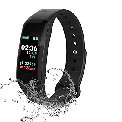 Fitness Tracker,Activity Tracker Watch with Heart Rate Blood Pressure Blood Oxygen Monitor,Waterproof Smart Fitness Band with Step Counter,Calorie Counter,Sleep Monitor for Kids Women Man