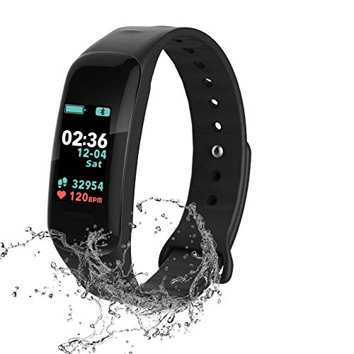 Fitness Tracker, Color Screen Activity Tracker with Blood Pressure Blood Oxygen,IP67 Waterproof Smart Watch with Heart Rate Sleep Monitor Calorie Counter Pedometer for Men, Women and Kids