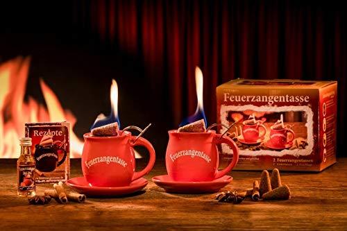 Feuerzangentasse 2er-Set, Rot (mit Rum) - für Feuerzanegnbowle