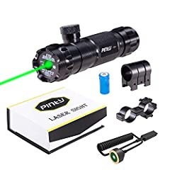 DURABILITY, made of aerospace grade aluminum, our laser sight features 532 nm wavelength, works well in any weather conditions POWERFUL GREEN LASER, highly visible green laser in any environments with improved accuracy, reaches up to 100 to 300 ft. d...