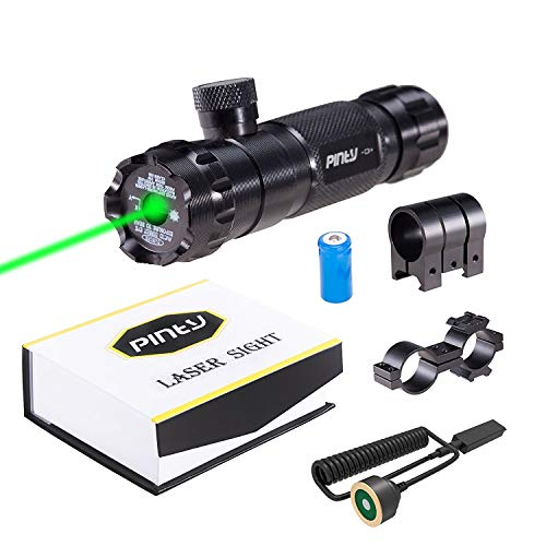 Best green laser rifle sight - Pinty Hunting Rifle Green Laser Sight Dot Scope Adjustable with Mounts