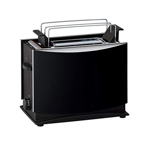 KM- Grille-pain, pain automatique de chauffage rapide de ménage compacte en acier inoxydable brossé pain grille-pain bagels de petit déjeuner muffins