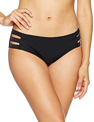 Ocean Blues Women's Black Strappy Bikini Bottom Basic Bathing Suit Small
