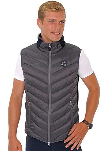 SPOOKS Herren Weste Herrenweste Steppweste Jacke ärmellos stepp - Finn Vest Dark Grey/NAV XL