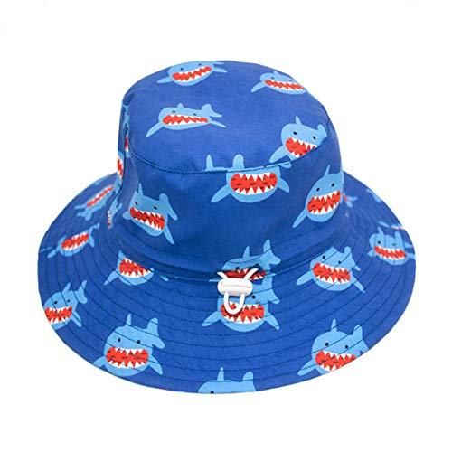 Qiribati Baby Girl Sun Cap Réglable Chapeaux Bracelet Requin Imprimer Protection Solaire Pliable Été Capeline pour Tout-Petits Enfants