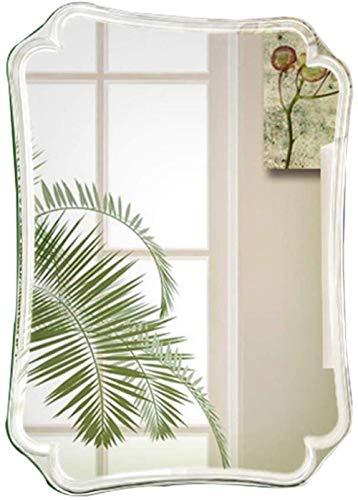 Mirror Frameless Shaving Makeup Wall Mounted Rectangle Anti-Fog Shower Modern Home Decorative for Bathroom Bedroom Dressing Room (Size : 50X70cm)
