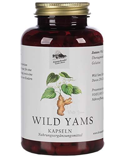 KRÄUTERHANDEL SANKT ANTON® Wild Yams Kapseln - Hochdosiert mit 90mg Diosgenin - Gluten- und Laktosefrei - Deutsche Premium-Qualität (240 Kapseln) (240)