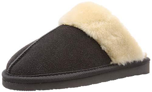 Minnetonka Women's Chesney Suede Scuff Slippers 9 M Charcoal