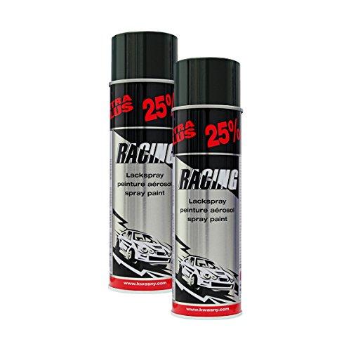 Kwasny 2X 288 905 Auto-K Racing Lackspray schwarz Glanz 500ml