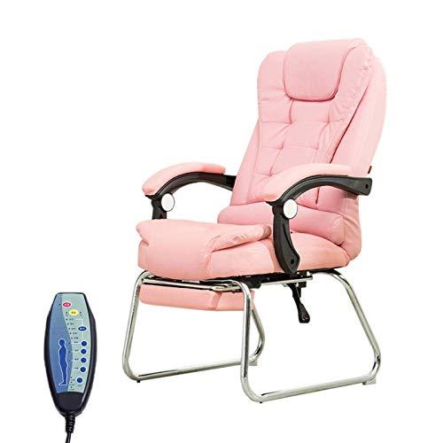 CSD sillas de Oficina Sillones de Masaje cómodas sillas Suaves Tablas for facilitar la Mano respaldos de Las sillas Personal de Lavar Las Tablas de vídeo Juegos Silla de Oficina (Color : Pink)