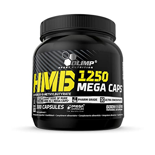Olimp Sport Nutrition Complemento Alimenticio HMB 1250 - 300 Cápsulas