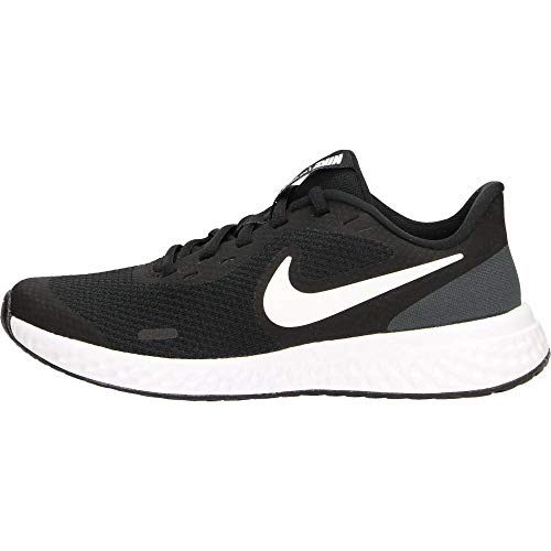 NIKE Revolution 5, Zapatillas, Black White Anthracite, 37.5 EU