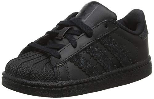 adidas Unisex Baby Superstar I Gymnastikschuhe, Schwarz (Core Black/Core Black/Core Black Core Black/Core Black/Core Black), 24 EU