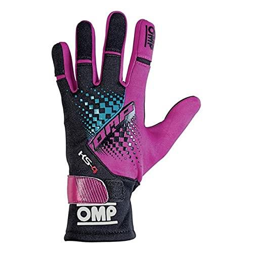 OMP OMPKK02744E277XL Ks-4 Guantes My2018 Noir/Magenta Sz Xl