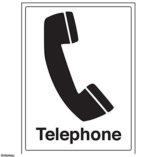 vsafety 72005bc-r'teléfono' Información General señal, plástico rígido, vertical, 300mm x 400mm), color negro