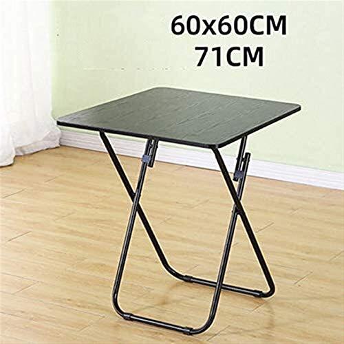 AOIWE Mesa plegable para el hogar, mesa de comedor, mesa de comedor, mesa cuadrada pequeña, mesa redonda grande (color: A, tamaño: pequeño)