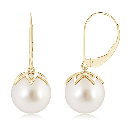 Monachella con perla coltivata orecchini pendenti per le donne per le donne e Oro giallo, cod. ANG-E-SE1207SSPR-YG-AAAA-10