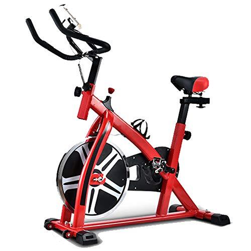 YI'HUI Bicicleta De Spinning Deportes De Interior Bicicleta Estática Inicio Pedal Multifunción Equipo De Ejercicios,Rojo