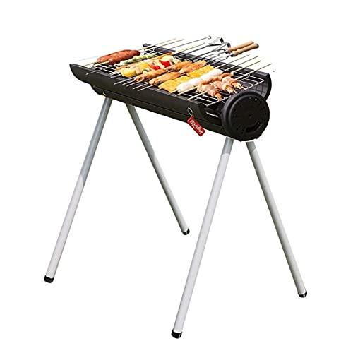 FEANG Grill Home Portable Barbecue Grillgarten Camping Holzkohle Grill Outdoor Edelstahl Raucher BBQ Geeignet für 2-4 Personen Grillwerkzeug