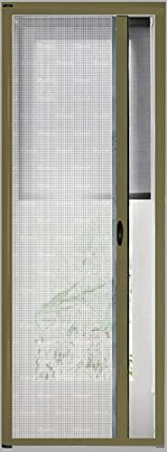 Zanzariera A Rullo Avvolgibile Scorrimento Orizzontale Profilo Regolabile Riducibile Telaio In Alluminio Universale Con Maniglie Per Finestra Porte Balconi colore Marrone (120 x 250 cm)