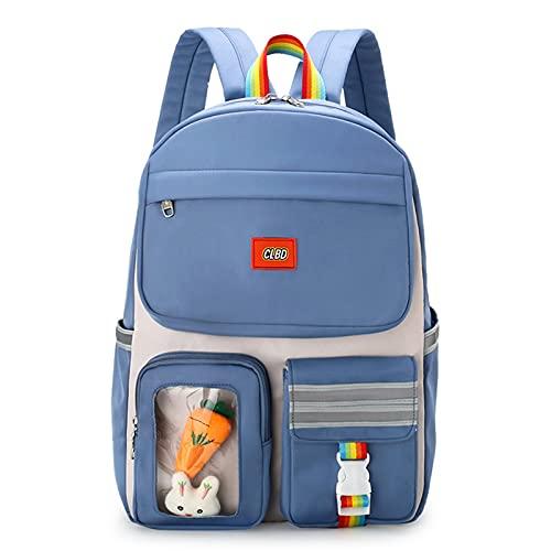 YXST Mochila Portatil 15.6 de Seguridad Impermeable para Ordenador Laptop,30l Mochila Universitaria Mochilas Escolares Juveniles,para los Estudios,Viajes O Trabajo,Blue