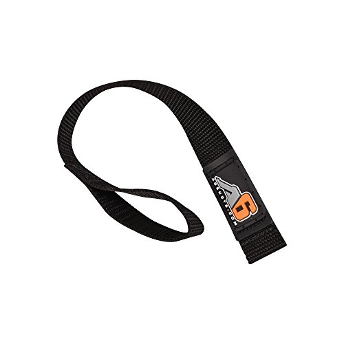 Agency 6 Winch Hook Pull Strap - Solid Black - 1 INCH Wide - Heavy Duty - Made in The U.S.A.