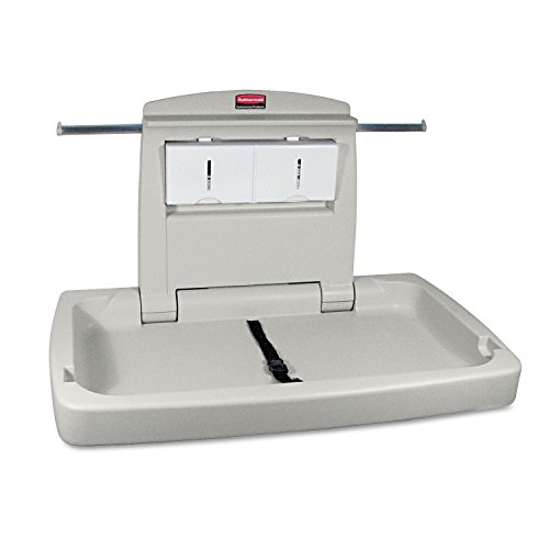 Rubbermaid Commercial 781888 Sturdy Station 2 Baby Changing Table, Platinum