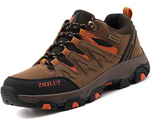 Lvptsh Zapatillas de Trekking para Hombre Botas de Montaña Zapatillas de Senderismo Calzado de Trekking Botas de Senderismo Antideslizantes AL Aire Libre Transpirable Sneakers