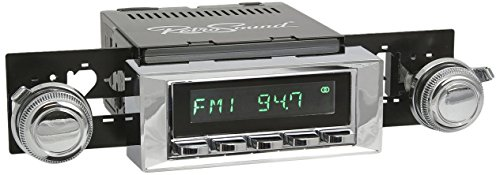Retro Manufacturing HC-116-117-03-73 Hermosa Direct-Fit Radio for Classic Vehicle (Chrome Face and Buttons and Chrome Bezel)