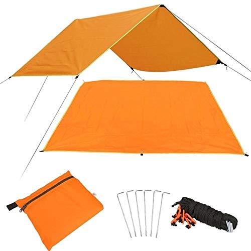 W.Z.H.H.H Schattensegel Shade Canopy Tuch Picknick Im Freien Praktische Picknick-Matte Reise Durable Multifunktions-Zelt Tuch Sturdy Sonnenschutztuch. (Color : Orange, Size : 180x220cm)