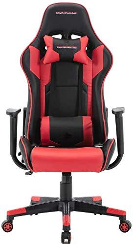 Silla de oficina Silla de juegos de cuero de la PU, silla de juego de la oficina de la oficina de la oficina de la oficina de la oficina Racing PC Sillas adultos adultos de la espalda alta apoyabrazos