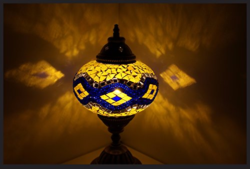 Mosaiklampe Mosaik - Tischlampe L Stehlampe orientalische lampe Blau Gelb Samarkand-Lights
