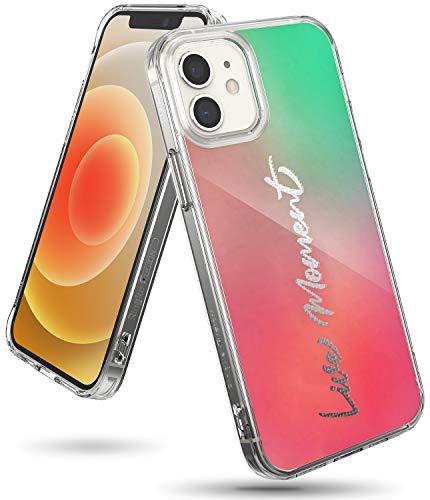 Ringke Fusion Design Compatible con Funda iPhone 12 Mini (2020) 5,4 Pulgadas, Fina Slim Rigida Carcasa Parachoque TPU - Live Moment