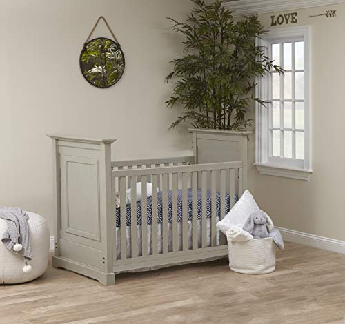 Baby Cache Cape Cod 3 in 1 Convertible Island Baby Crib in Light Grey