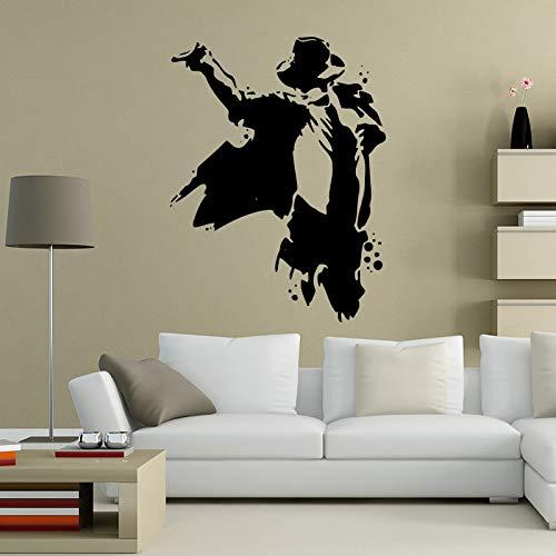 Legend Pop Star Michael Jackson Rock Music Dance King Classic Pose Etiqueta de la pared Vinilo Coche Calcomanía Boy Fans Dormitorio Sala de estar Club Studio Decoración para el hogar Mural