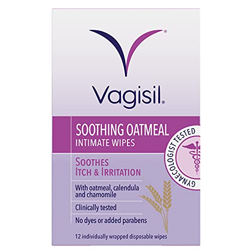 VAGISIL Soothing Oatmeal Intimate Wipes for Burning & Irritation, 12 Wipes...