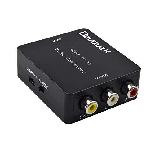 HDMI a RCA Convertidor,Ozvavzk HDMI a AV Compuestas Video y Audio 1080P...
