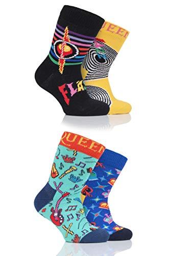 Happy Socks Babies Queen 'We Will Sock You' Geschenkbox Socken Packung mit 4 Assorted 0-12 Monate