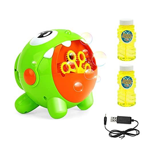 EXTSUD Machine à Bulles Automatique Électrique Recharge USB Jouet de Bain Appareil Jeux de Bulles avec Ventillateur pour Enfants Mariage Anniversaire Soirée Extérieur