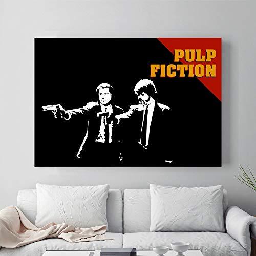 Pulp Fiction Vintage Film Poster Leinwand Verblassen Sie Nicht Malerei Home Decoration Leinwand Kunst Dekoration-50x75CM / Frameless