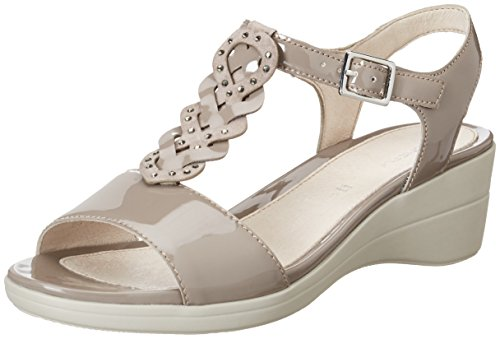 Stonefly Vanity III 11, Sandales Bout Ouvert Femme, Gris (Taupe 423), 38 EU