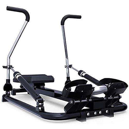 Máquina de remo plegable de interior para el hogar, remero hidráulico con 6 resistencia ajustable, entrenamiento de brazo pectoral abdominal, equipo aeróbico de entrenamiento de gimnasio en casa