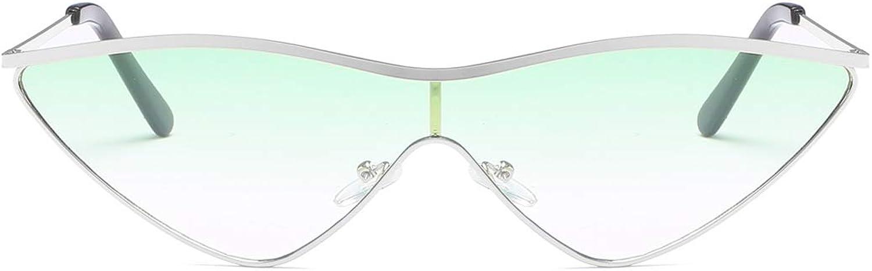 CIGONG Retro Cat Eyes Ocean Piece Sunglasses Triangle Frame Unisex Glasses Sunglasses (color   gold Frame Green Lens)