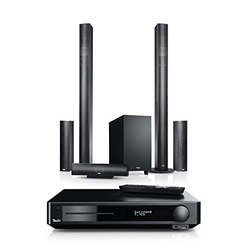 Teufel Columa 300 Impaq 5.1-Set M Schwarz Heimkino Lautsprecher 5.1 Soundanlage Kino Raumklang Surround Subwoofer Movie High-End HiFi Speaker