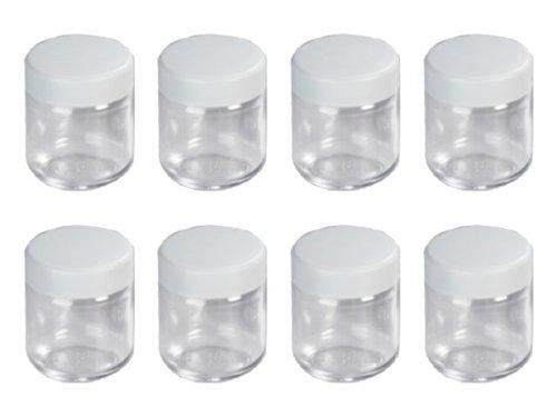 Severin EG 3517 - Vasos de repuesto para yogurtera con tapa , 8 unidades